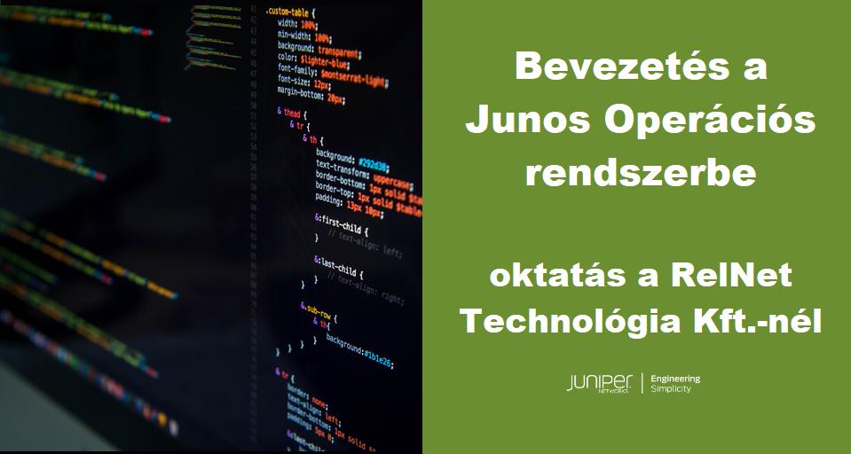 JUNOS_bevezetés